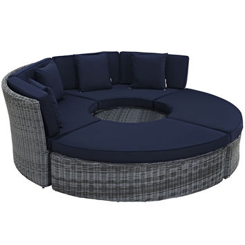 Summon Circular Outdoor Patio Sunbrella® Daybed