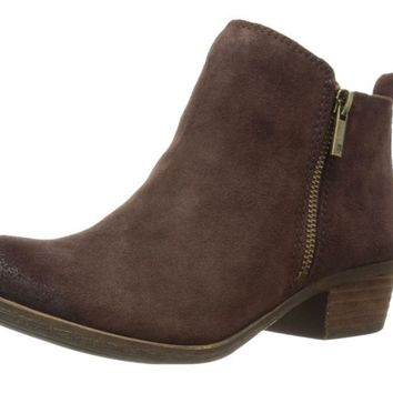 Lucky Brand Basel Java Oiled Suede Booties