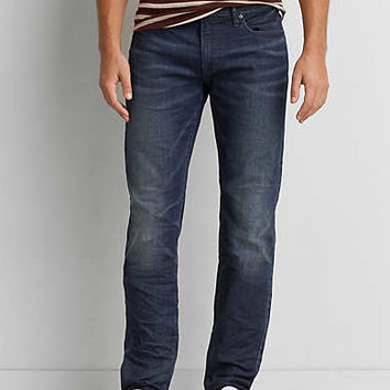 AEO Extreme Flex Slim Straight Jean, Dark Indigo Wash