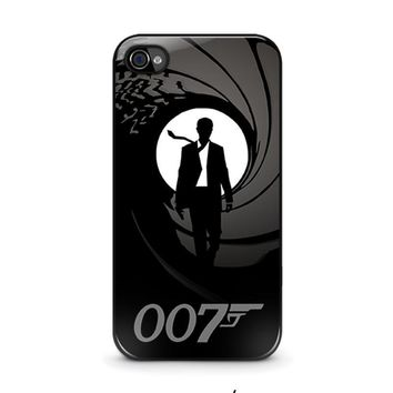 james bond 007 iphone 4 4s case cover  number 1