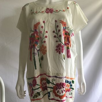 Vintage 70s Oaxacan Embroidered Mexican Dresses