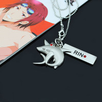 Anime Free! Iwatobi Swim Club Cosplay RIN shark crown necklace pendant