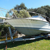 1991 23' Bayliner Trophy Twin Force 125 HP w/dual axle roller trailer (ncstew91)