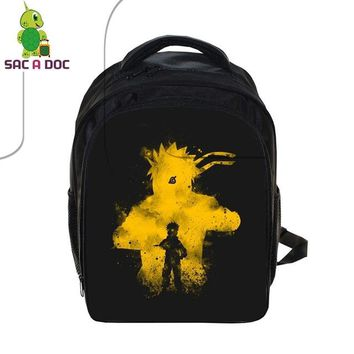 Anime Backpack School kawaii cute Naruto Children School Backpack Boys Girls Book Bag Naruto Sasuke Outline School Bags Kids Primary Kindergarten Backpack AT_60_4