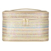 Carry All Train Case in Pastel Iridescent Woven- Kendra Scott Jewelry