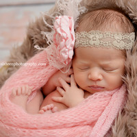 Light Cocoa Brown Mongolian Faux Fur Rug Photography Newborn Prop