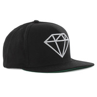 Diamond Supply Co. Rock Logo Snapback Cap - Black at Urban Industry