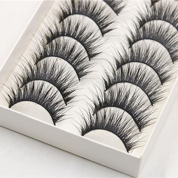 10 Pairs Thick Long Black False Eyelashes