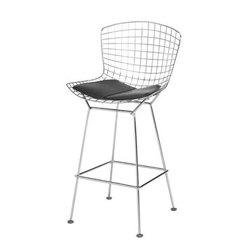 Modern  Chrome Reproduction Harry Bertoia Wire Counter Bar Stool