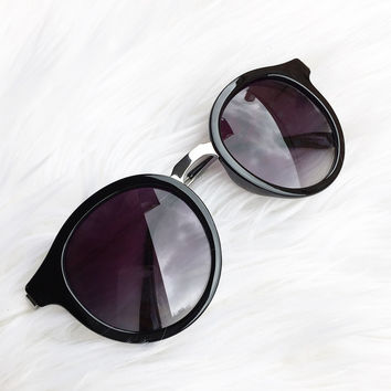 South Hamptons Sunnies- Black/Silver