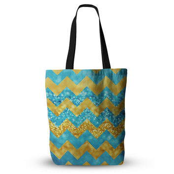 "Beth Engel ""Blueberry Twist"" Chevron Everything Tote Bag"