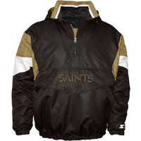 New Orleans Saints NFL Half Zip Pullover Starter Jacket