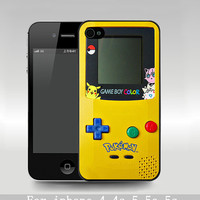 gameboy Pokemon iphone 5c case,iPhone 5s Case, iPhone 5 case game boy iPhone 4 Case, skin cover plastic personalized