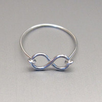 Wire silver or gold infinity ring by QueenCityConceptions on Etsy