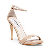 White, Gold & Red Ankle Strap Heels | Steve Madden STECY