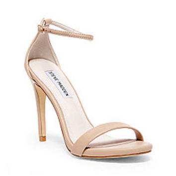 White, Gold & Red Ankle Strap Heels   Steve Madden STECY