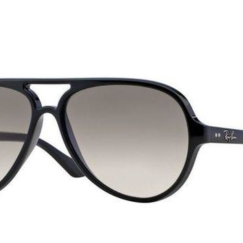 Kalete Ray-Ban Sunglasses RB4125 CATS 5000 601/32 Black / Grey Gradient RRP-?140