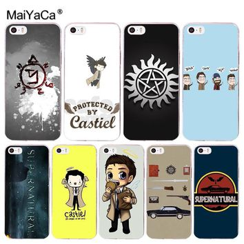 MaiYaCa cool Supernatural tv logo Coque Shell Phone Case for Apple iPhone 8 7 6 6S Plus X 5 5S SE 5C Cellphones XS XR XSMAX
