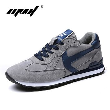 Soft Suede Outdoor Running shoes for men Spring Sneakers men shoes Lifestyle Sport shoes men Walking shoes