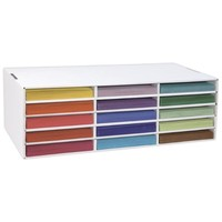 Pacon Classroom Keepers Construction Paper Storage for 9 x 12 inch Paper, 15 Slots (001310)
