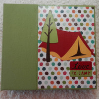 6x6 PreMade Camping Scrapbook Photo Album