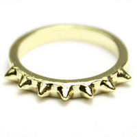 Spike Top Knuckle Ring