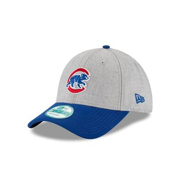 Men's Chicago Cubs New Era Heathered Gray The League 9FORTY Adjustable Hat