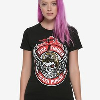 Five Finger Death Punch Pilot Skull Girls T-Shirt