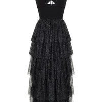 Tiered Ruffle Dress With Crepe Top | Moda Operandi