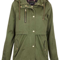 Hooded Lightweight Jacket - Khaki