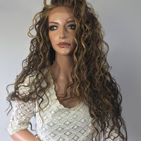 Mixed Balayage Blond Waves lace front wig 26'