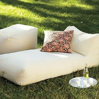 Solid Outdoor Chaise | Pottery Barn