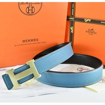 Hermès Fashion Woman Men Buckle Belt Leather Belt