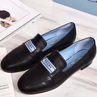 Prada  Women Fashion Simple Casual Loafers  Shoes