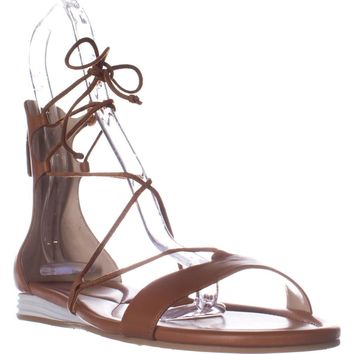 Cole Haan Original Grand Lace Up Sandals, Brown Tan, 8.5 US