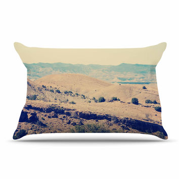 "Sylvia Coomes ""Wild West"" Blue Nature Pillow Case"