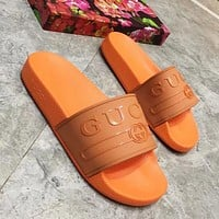 GUCCI Woman Men Fashion Slipper Sandals Shoes