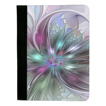 Colorful Fantasy, abstract and modern Fractal Art Padfolio