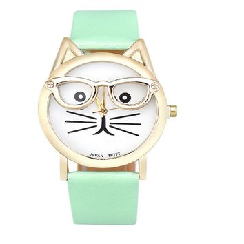 Cat Face Fashion Ladies Watch