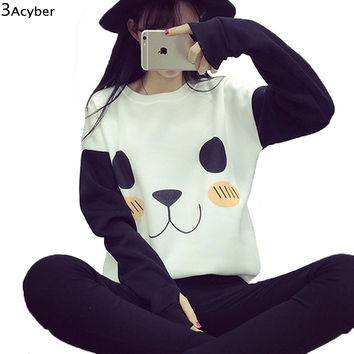 FANALA Totoro Kawaii Hoodie Women Sweatshirts Cute Fleeve Pullover Hoodies Printed Casual Sweatshirt Hoody Sudaderas Clothes