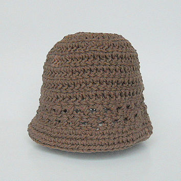 Infant Brown Hat  Girl  Spring Cotton  Cap 6 To 12  Months Baby Boy Summer  Beanie