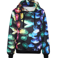 Jellyfish Pattern Womens Sweatshirt Hoodies