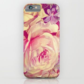 soft vintage roses iPhone & iPod Case by clemm