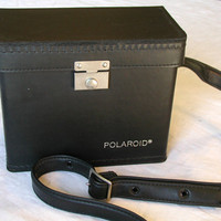 Polaroid Camera Case Vintage Black Accessory Case & Shoulder Strap