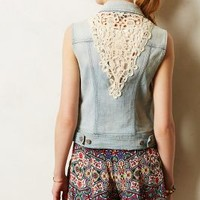 Pilcro Laced Denim Vest Dream Catcher