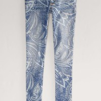 AEO 's Paisley Jegging Ankle (Light Blue)