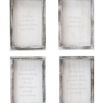 Maya Angelou Quote Plaques