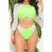 Santa Marina Two Piece Swimsuit Neon Green