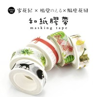 15mmX7m Plant story hand photo album decorative plant and paper tape stationery stationery decorative stickers office stationery
