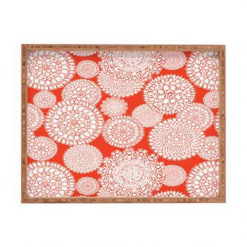 Heather Dutton Delightful Doilies Saffron Rectangular Tray